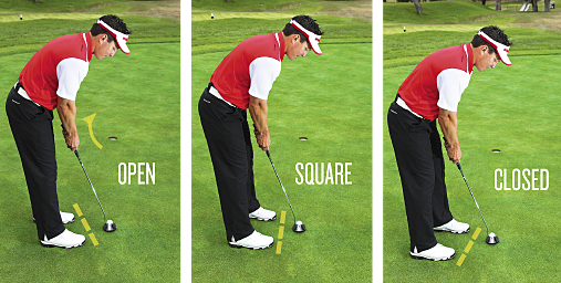 square putting stance